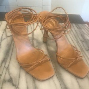 TOM FORD FOR GUCCI NUDE BAMBOO HEEL SHOES SIZE 6
